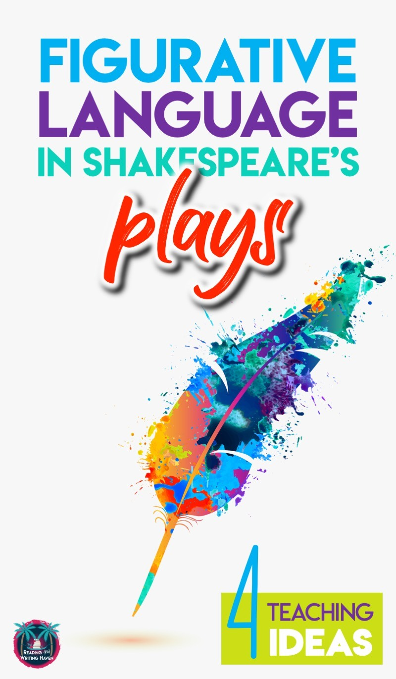 Four ways to teach figurative language in Shakespeare's plays #HighSchoolELA #Shakespeare