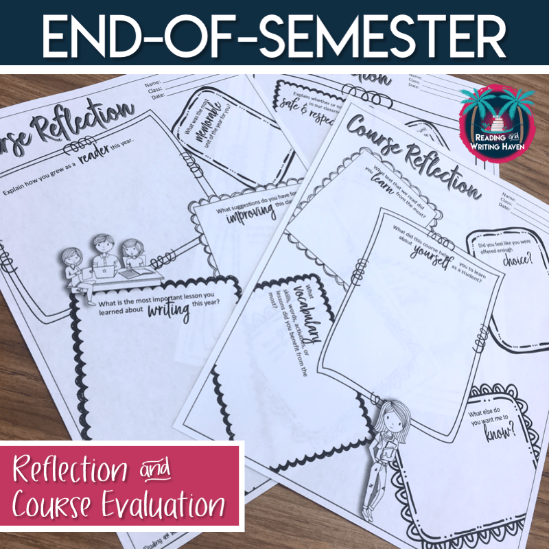 Collect valuable feedback from students with an end-of-the-year course evaluation #MiddleSchoolELA #EndoftheYear