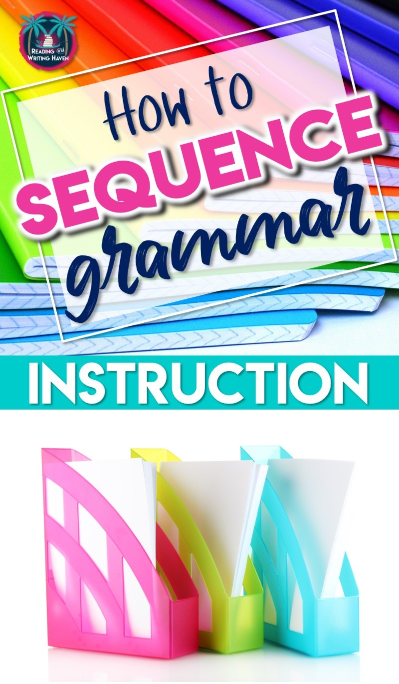 Wondering how to sequence grammar instruction in middle or high school? Start here. #GrammarSequence #HighSchoolELA