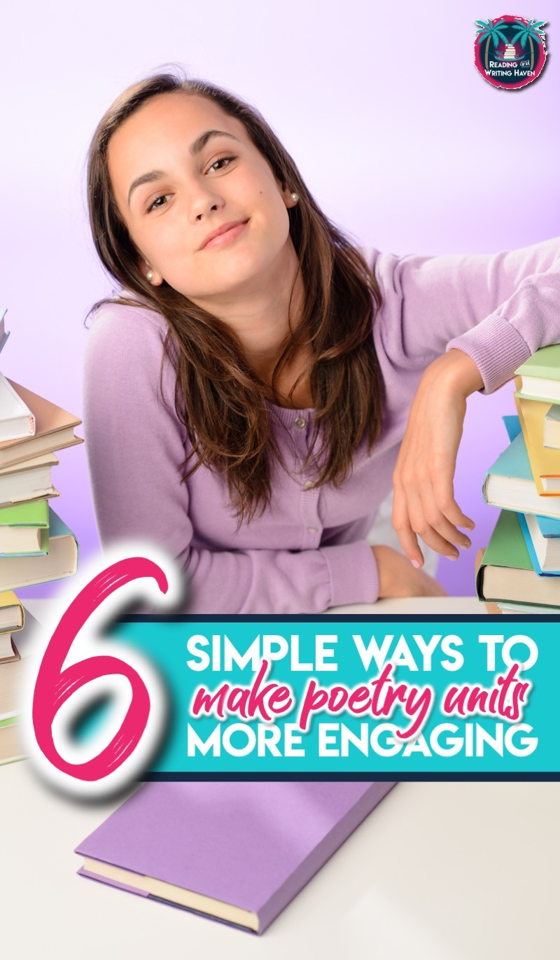 6 poetry activities to spice up your unit and make lessons more engaging #poetry #HighSchoolELA
