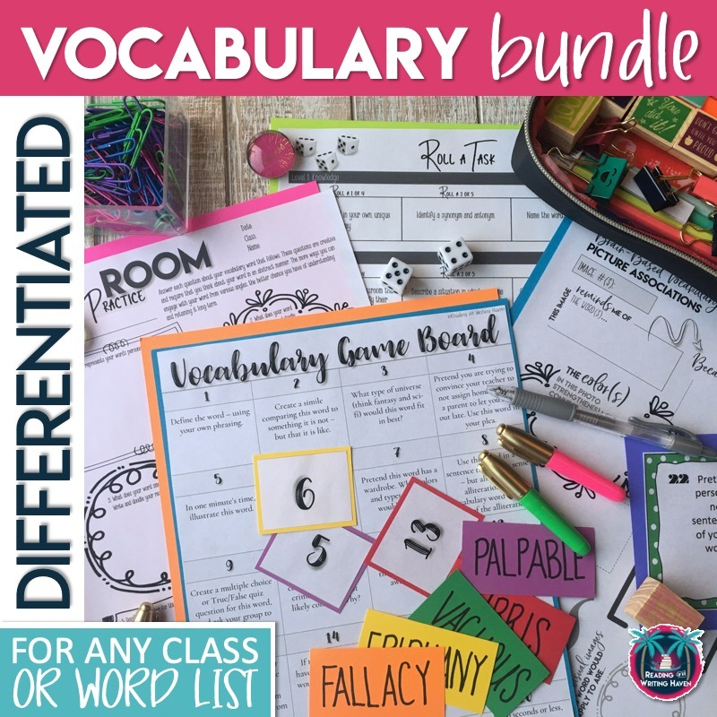 Looking for fun and effective vocabulary activities? Try these brain-based engaging strategies. #HighSchoolELA #VocabularyActivities
