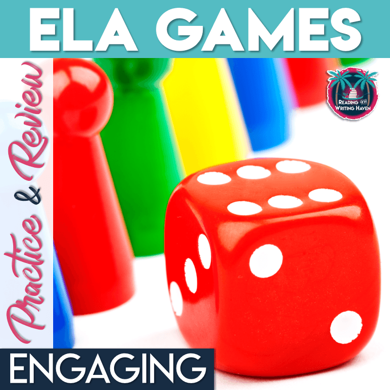 Engage students in meaningful review and practice with ELA games #ELAGames #MiddleSchoolELA #HighSchoolELA