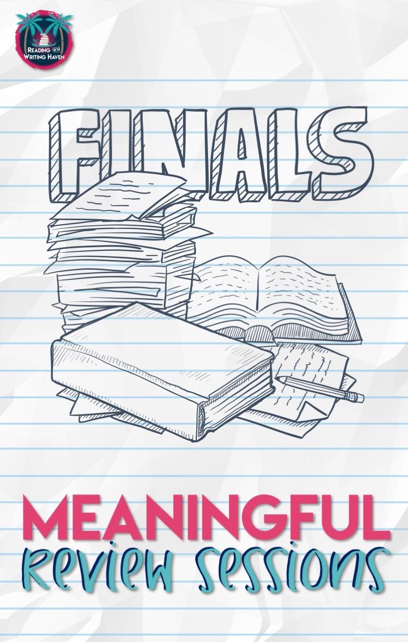 Meaningful final exam review ideas for High School English #highschoolELA #finalexams