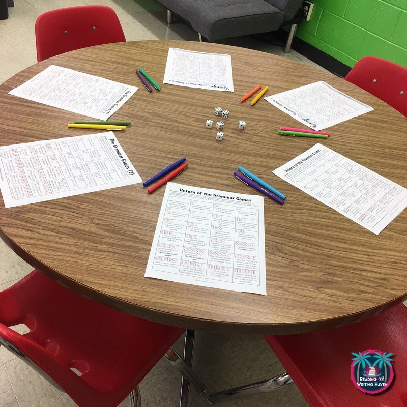 Grammar review games for final exam or other review sessions in middle and high school English #highschoolELA #grammargames