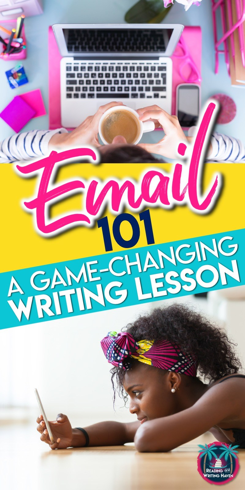 A relevant writing lesson for middle and high school ELA - how to teach email etiquette #EmailEtiquette #HighSchoolELA