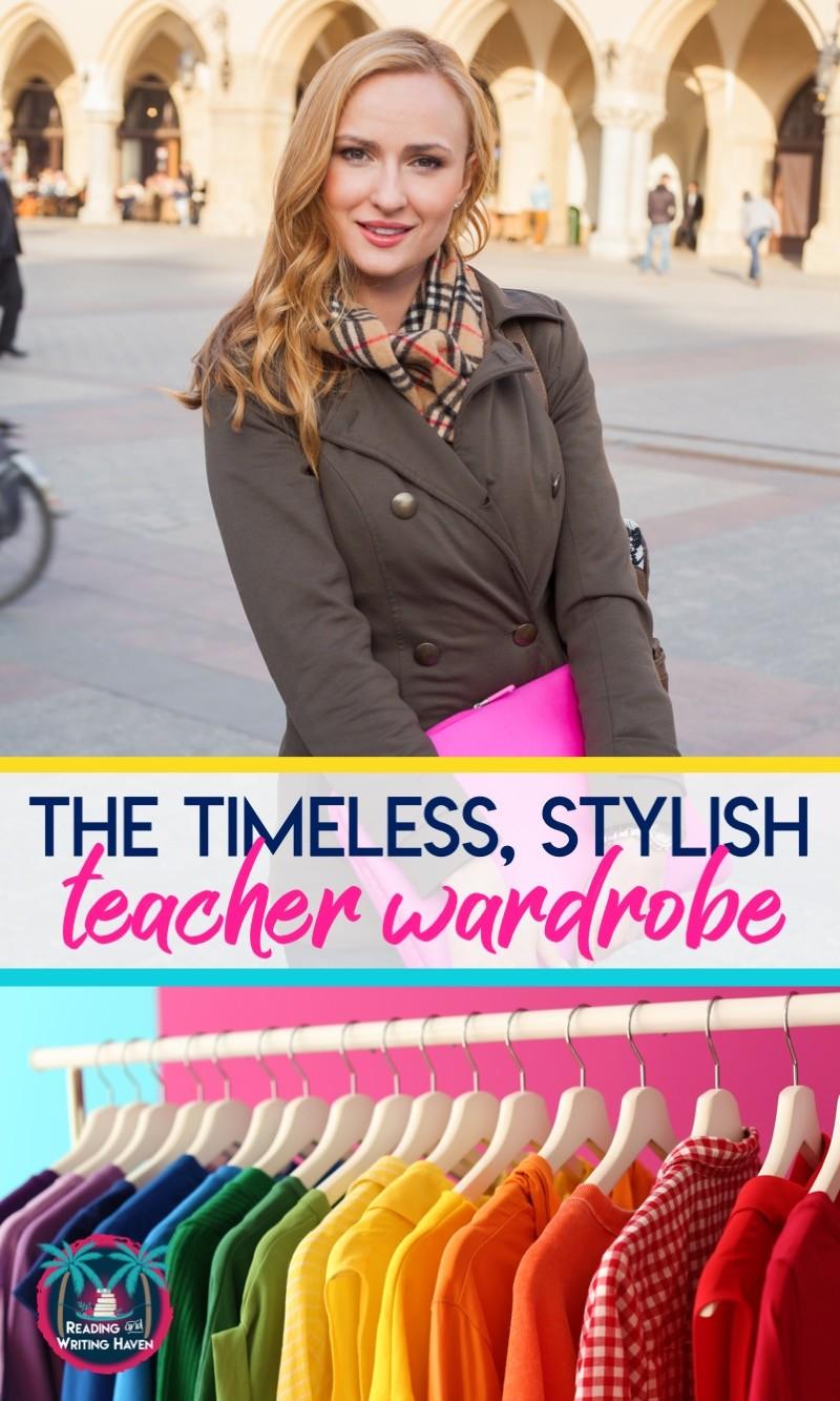 Teacher wardrobe shopping made easy! Timeless styles for teachers of all ages. #TeacherWardrobe #NewTeacher #TeacherTips