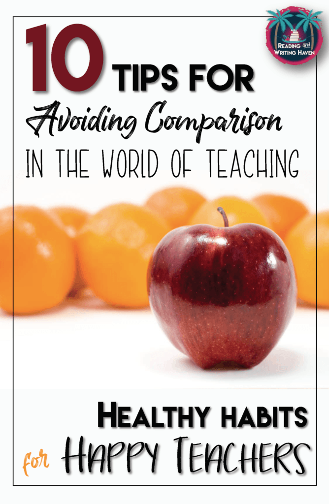 Read about how to avoid the temptation of comparing yourself to others and, in turn, reduce teacher burnout. This post highlights 10 different ways teachers can focus on their own gifts and talents and stay positive for everyone's benefit.