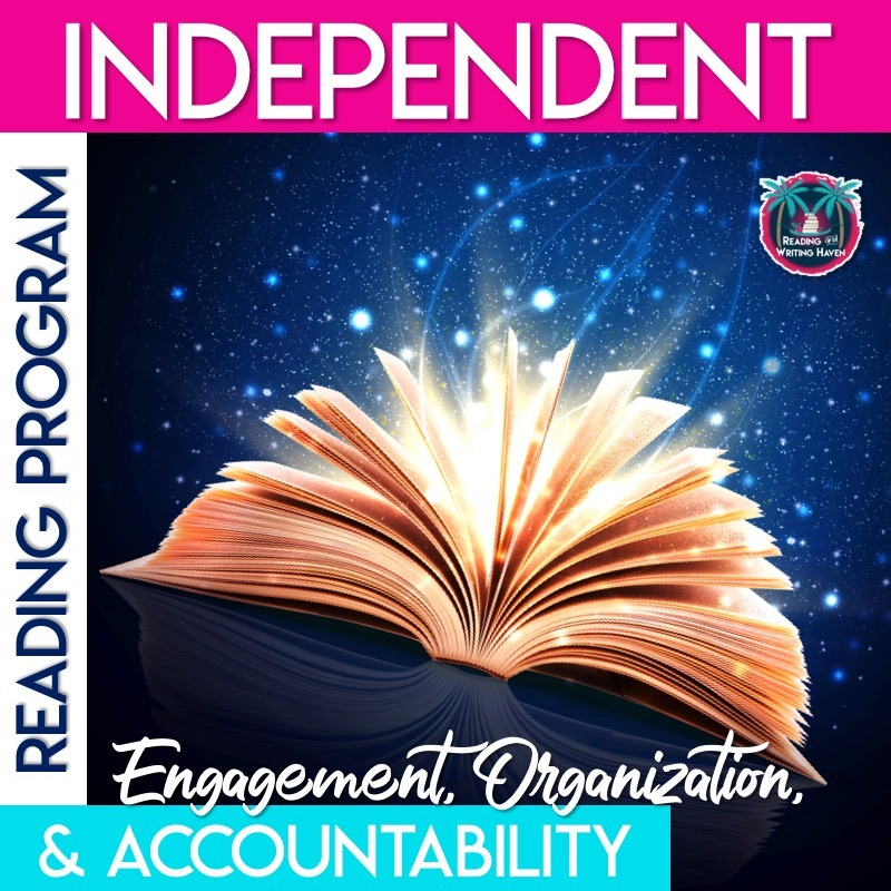 Independent reading program materials for accountability, organization, and engagement. #IndependentReading #HighSchoolELA