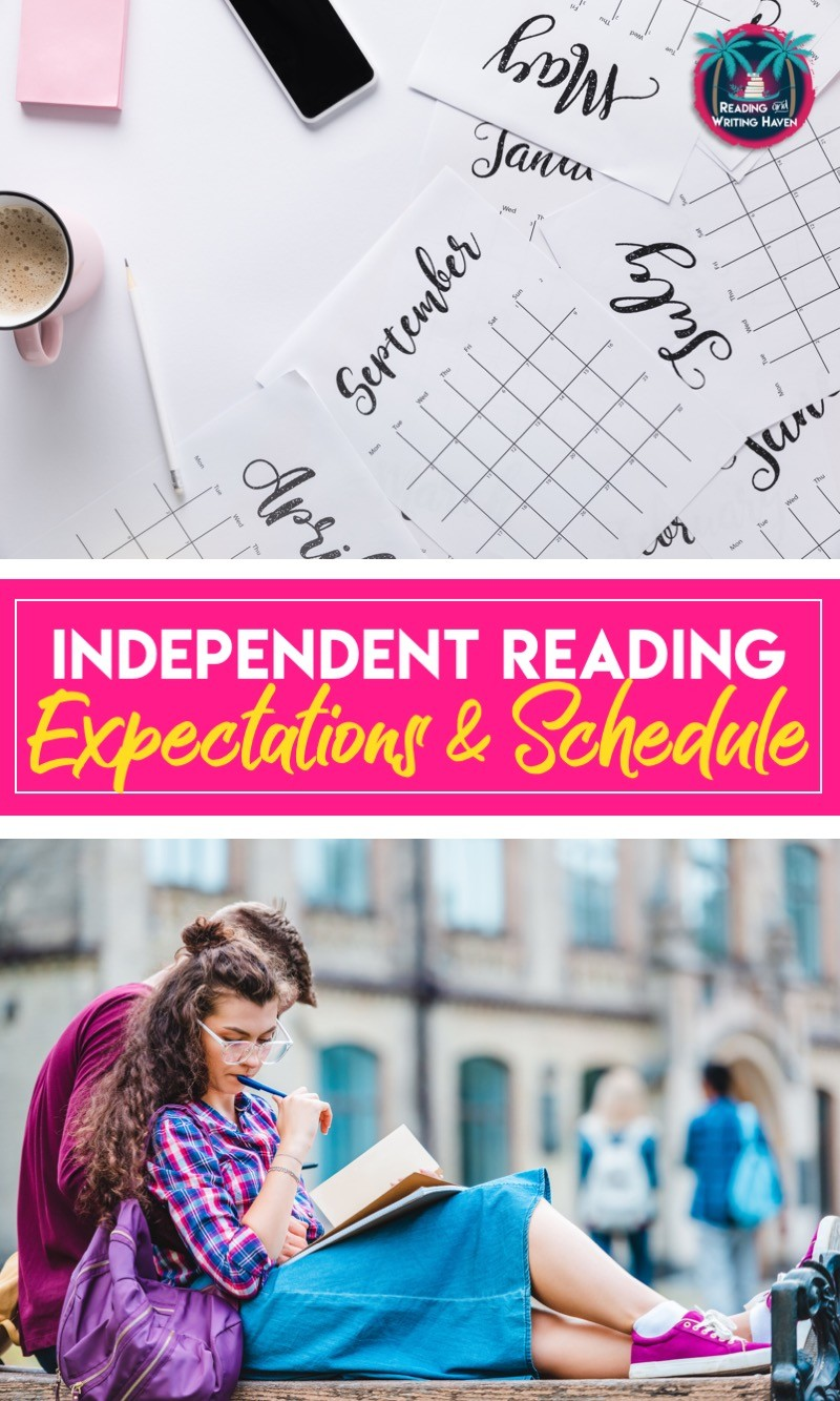 Create a practical schedule and set expectations for a full-choice reading classroom book club #ChoiceReading #MiddleSchoolELA #HighSchoolELA