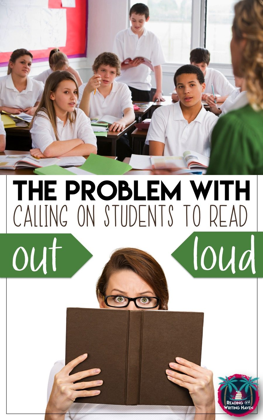 Reading anxiety is a real issue for some students. Calling on teens to read out loud can be fear-inducing. In this post, read about alternatives to calling on students as well as when it's okay to call on them to read. #HighSchoolELA #ReadingTeacher