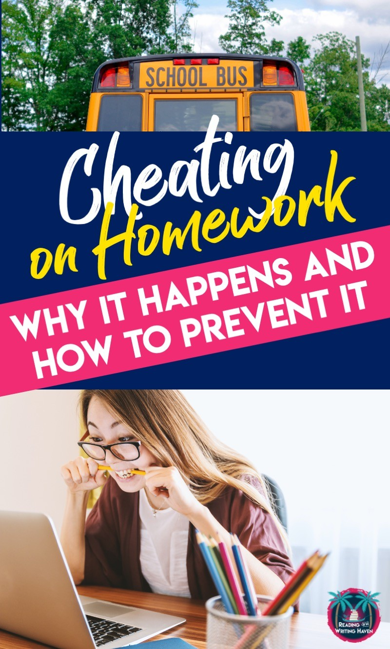 Wondering why students cheat on homework and how to prevent it? This post is full of tips that can help. #MiddleSchoolTeacher #HighSchoolTeacher #ClassroomManagement
