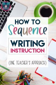 How to Sequence Writing Instruction in Middle and High School #highschoolela #writingsequence