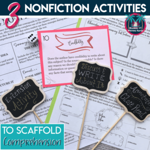 Informational text and nonfiction articles activities for any text. Use with high school English classes.