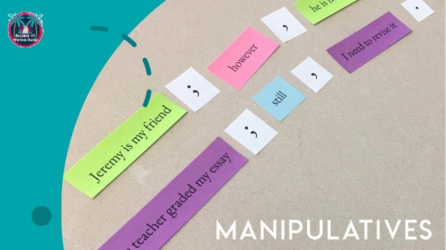 Manipulatives make for great grammar interventions #MiddleSchoolGrammar #HighSchoolGrammar
