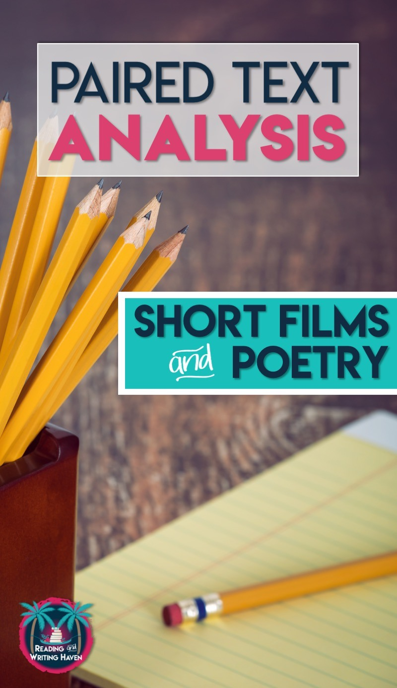 Engage reluctant learners in paired text analysis using these five poetry and short film combinations. #highschoolela #pariedtexts