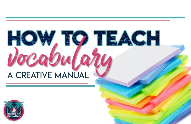 How to Teach Vocabulary in Secondary Classrooms | Reading