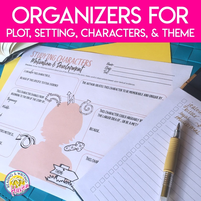 Graphic organizer for analyzing characters