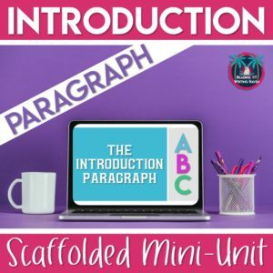teaching students how to write an introduction paragraph  reading  scaffolded mini unit for teaching students how to write an introduction  paragraph