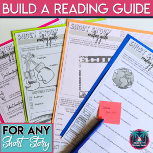 Short story analytical graphic organizers for any text #languagearts #shortstoryunit