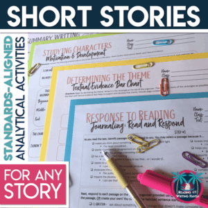 Short story analytical graphic organizers for any text #highschoolela #shortstories