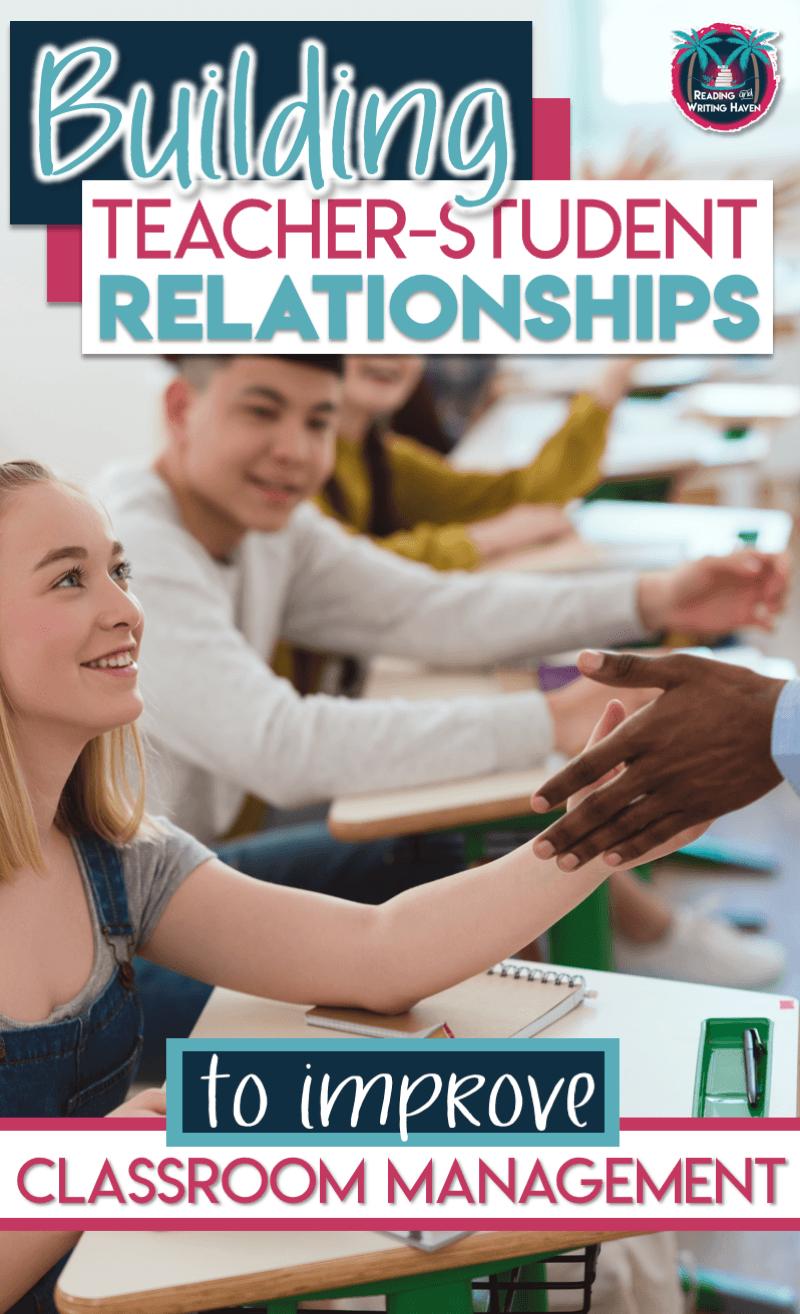 Tips for building teacher-student relationships to improve classroom management issues #classroommanagement #teacherstudentrelationships #highschoolteacher #middleschoolteacher