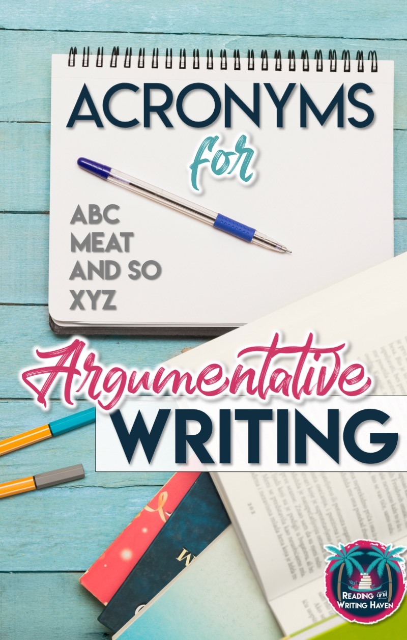 Argumentative writing acronyms for each paragraph #middleschoolela #argumentativewriting #scaffolding