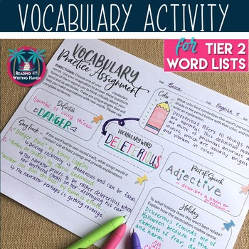 Free differentiated vocabulary for any word list in any secondary class #differentiatedvocabulary