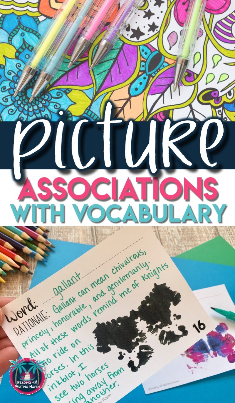 10 ways to use picture associations to build vocabulary in middle and high school #highschoolELA #vocabulary