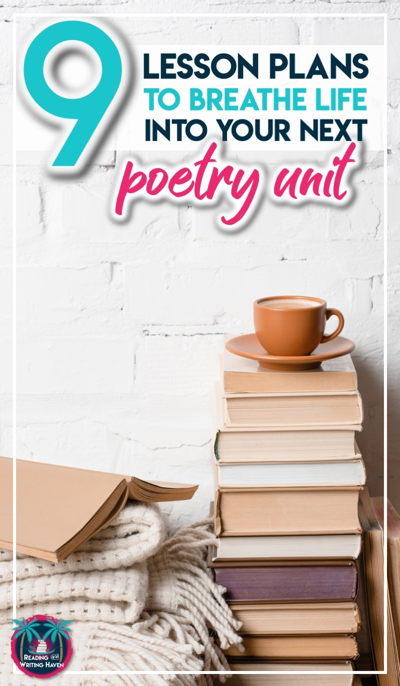 Read about 9 fun poetry lessons for secondary. Liven up your next poetry unit by incorporating some new instructional strategies. #TeachingPoetry #HighSchoolELA