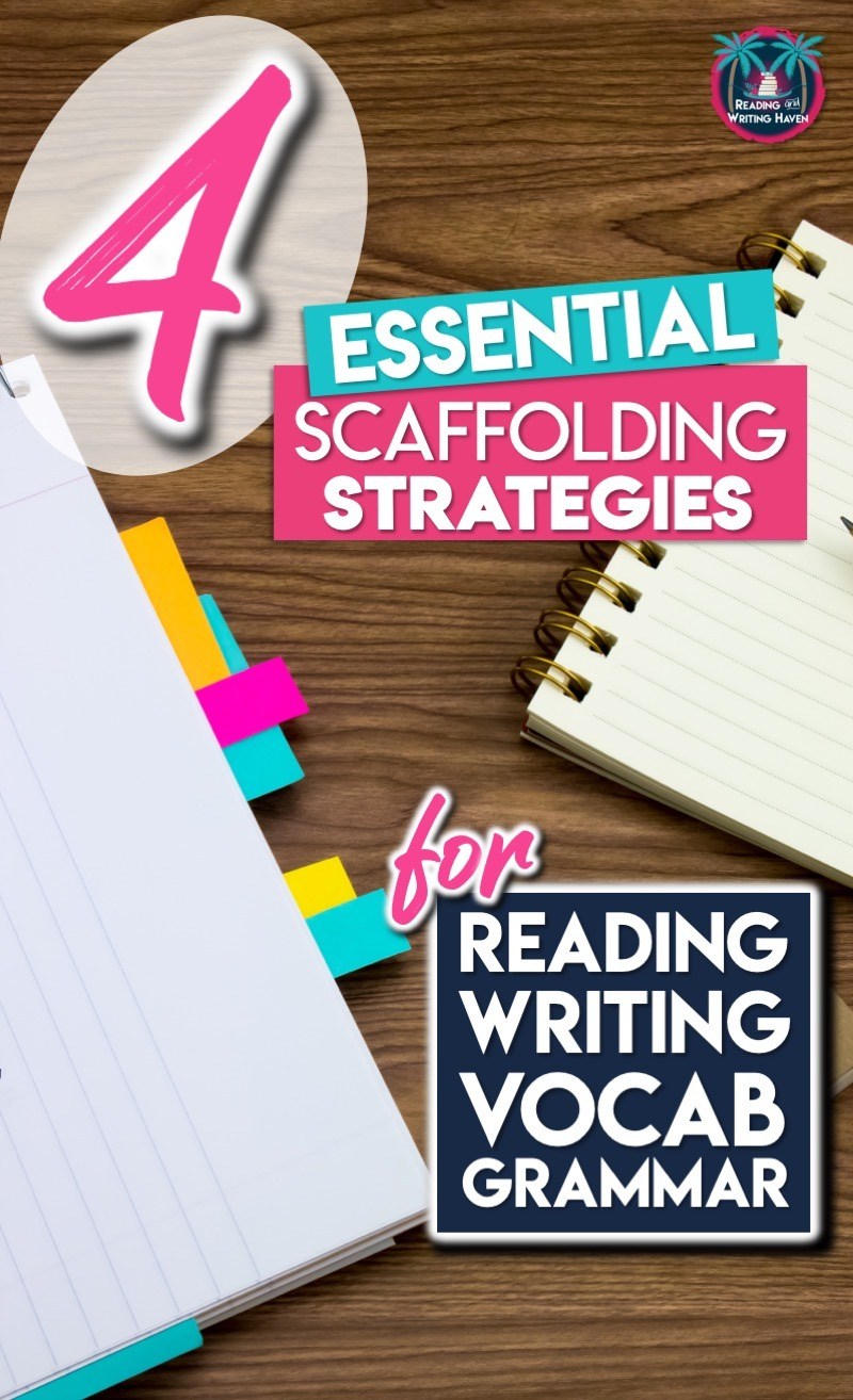 Key instructional scaffolding strategies for middle and high School ELA #ScaffoldingStrategies #HighSchoolELA