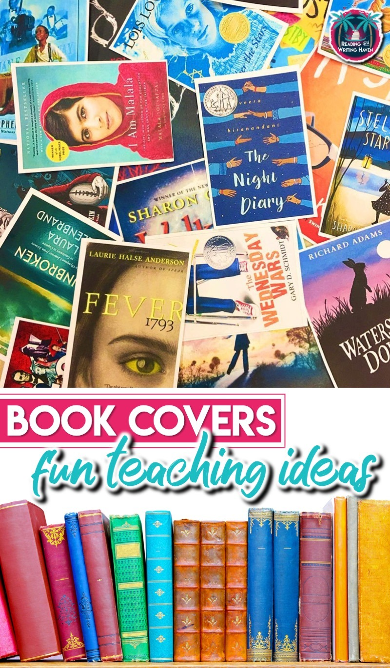 11 ideas for using book covers as hooks for reading #highschoolELA #readinglessons