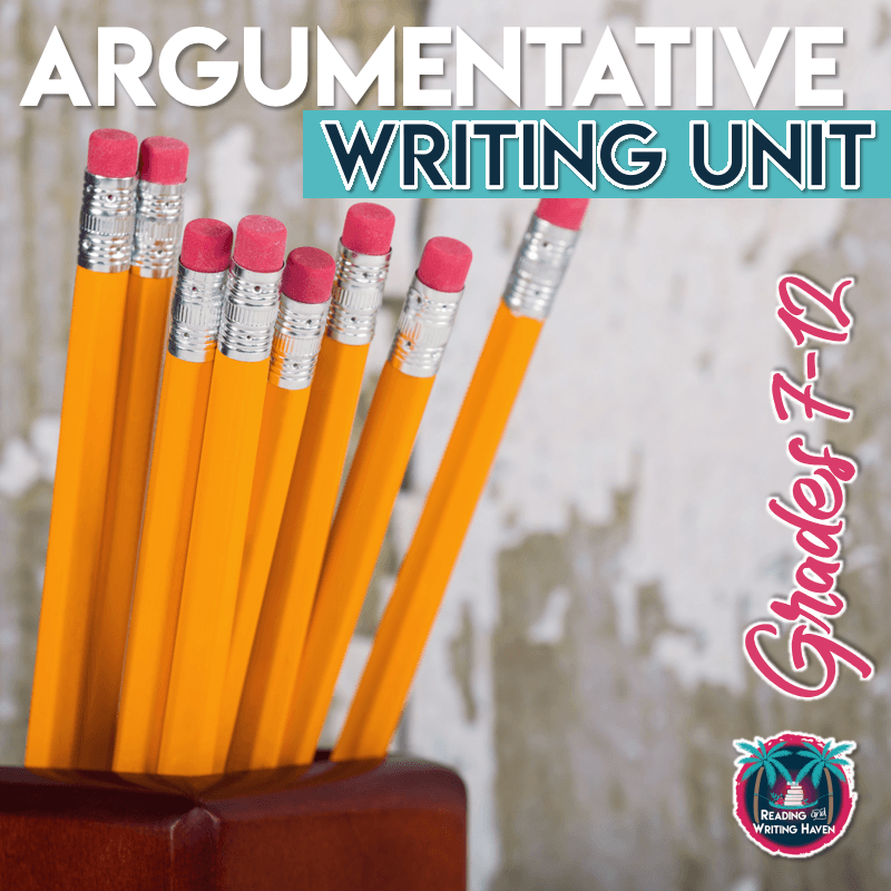 Structured and scaffolded argumentative writing unit for middle school ELA and high school ELA #ArgumentativeWriting #MiddleSchool