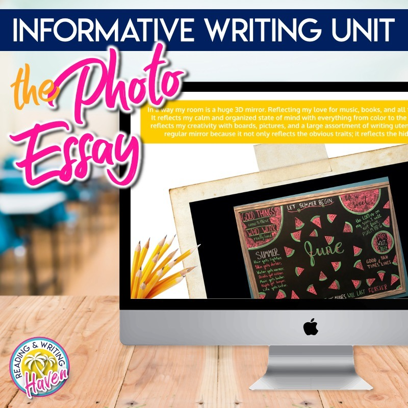 An engaging and relevant informative writing unit with a visual twist! The photo essay is great for middle and high school students. #InformativeWriting #MSELA #