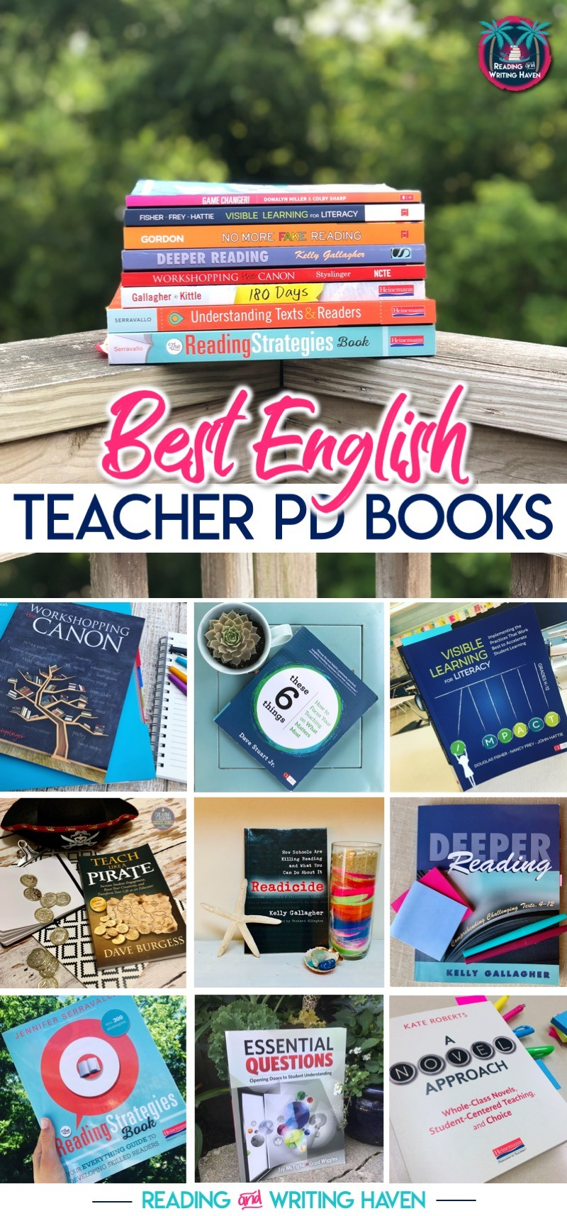 Best books for English teachers as recommended by those practicing in the field #PDBooks #EnglishTeacher