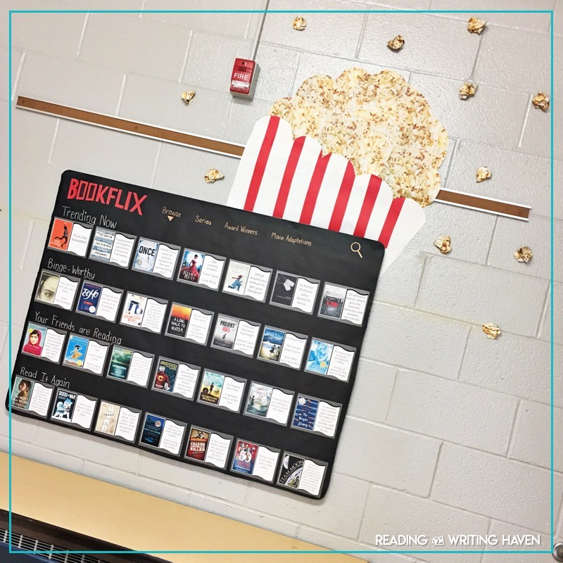 Bookflix reading bulletin board kit and student activity #ClassroomDecorations #MiddleSchoolELA