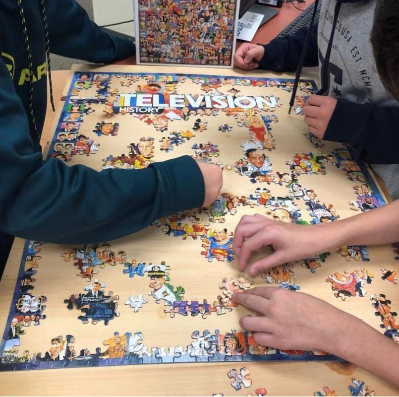 Classroom puzzles can add a lot of value to the learning environment #ClassroomManagement #HighSchoolTeacher