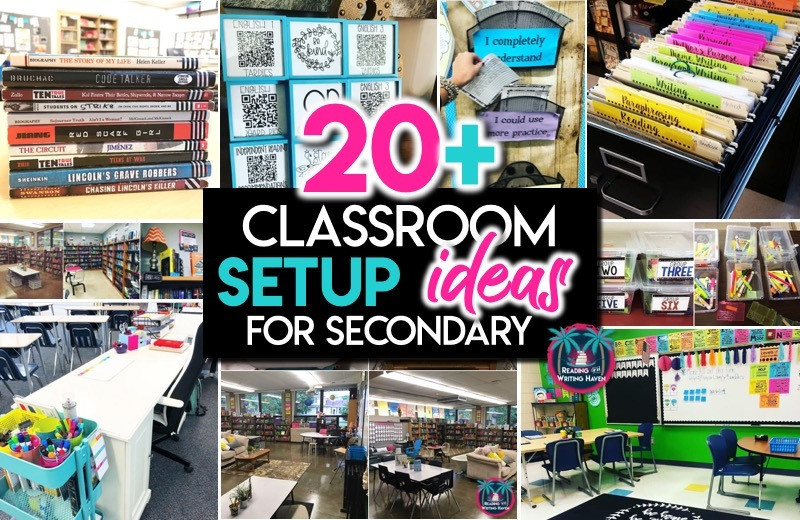Classroom Setup Ideas for Secondary | Reading and Writing Haven