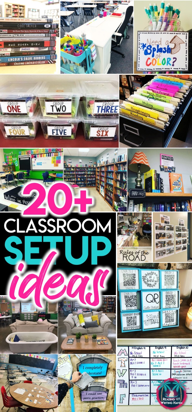 20 plus classroom setup ideas for secondary #ClassroomSetup #SecondaryELA