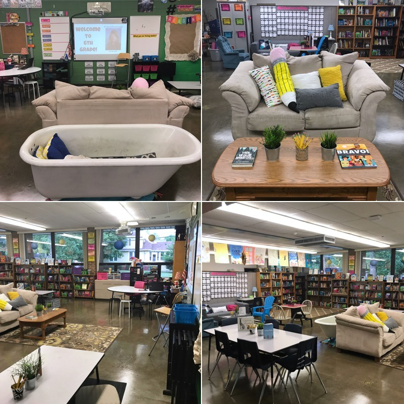 Flexible seating ideas for secondary classroom setup #FlexibleSeating #MiddleSchoolELA