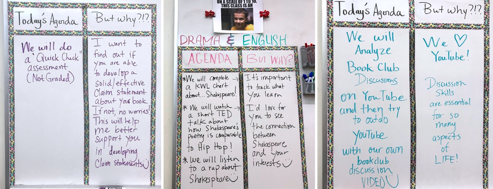 Homework board idea for middle and high school #Homework #SecondaryELA