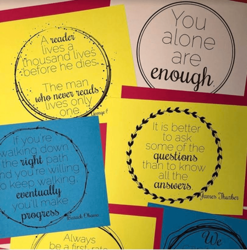 Quote posters can help to tie mismatched classroom colors together and also provide meaningful activities during down time #ClassroomDecor #InspirationalQuotes