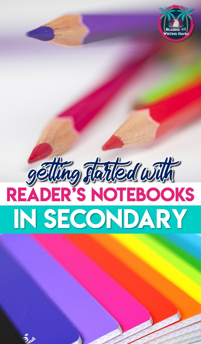Tips for getting started with reader's notebooks in middle school and high school #ReadersNotebooks #HighSchoolELA