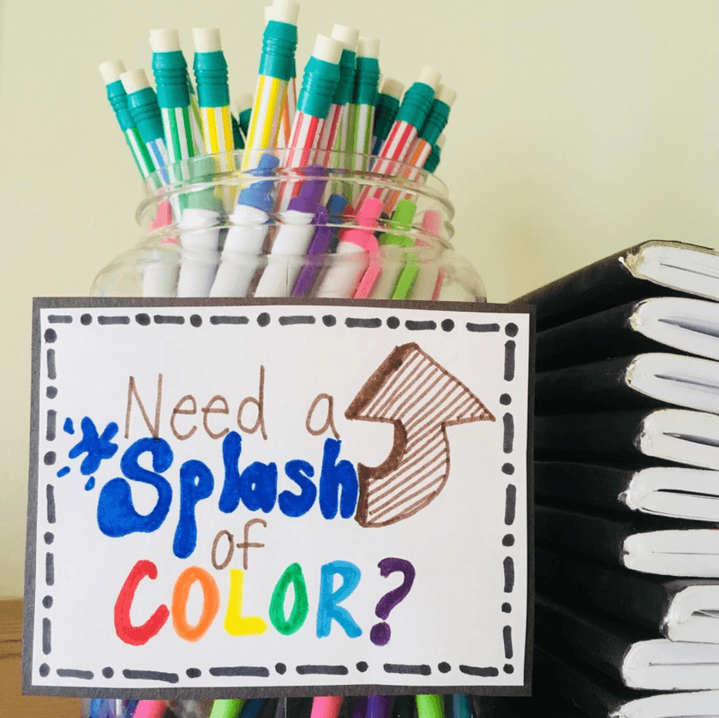 Using color in the classroom is critical! Make sure to set up a station where students can easily access tools to increase effort. #ClassroomManagement #HighSchoolTeacher