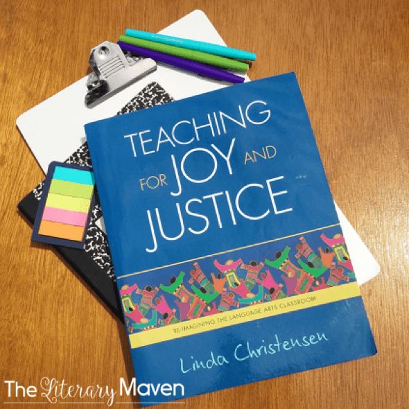 Teaching for Joy and Justice, a PD book for English teachers #EnglishTeachers #TeacherTips