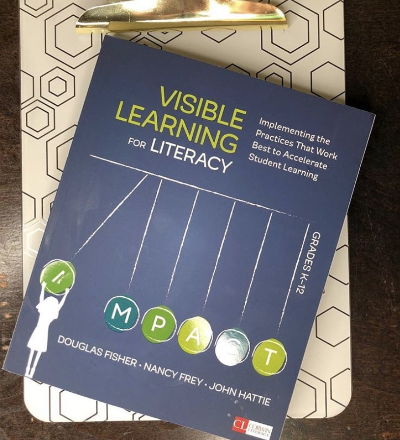 Visible Learning for Literacy is a great professional development book for secondary teachers #PDBooks #MiddleSchoolELA
