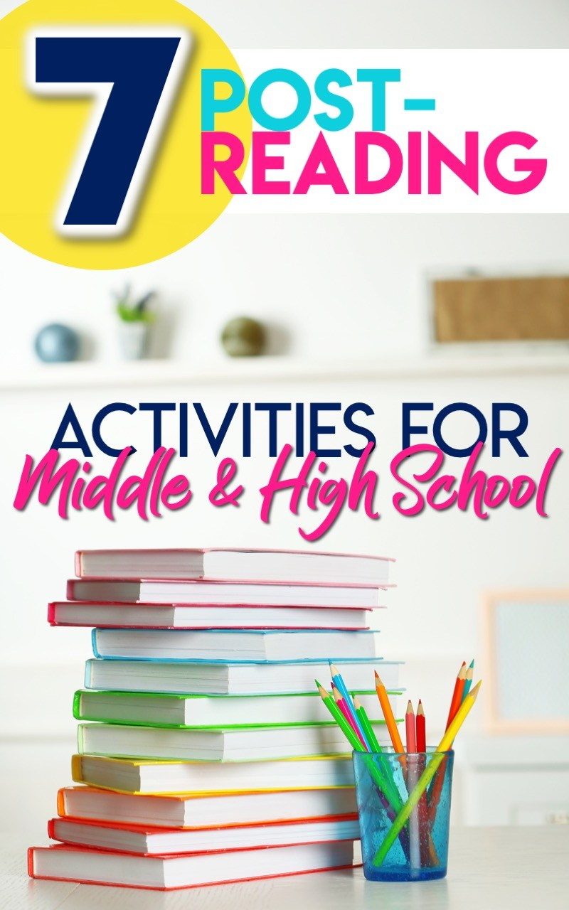 7 post-reading activities and project ideas for middle and high school #ReadingActivities #MiddleSchoolELA #HighSchoolELA
