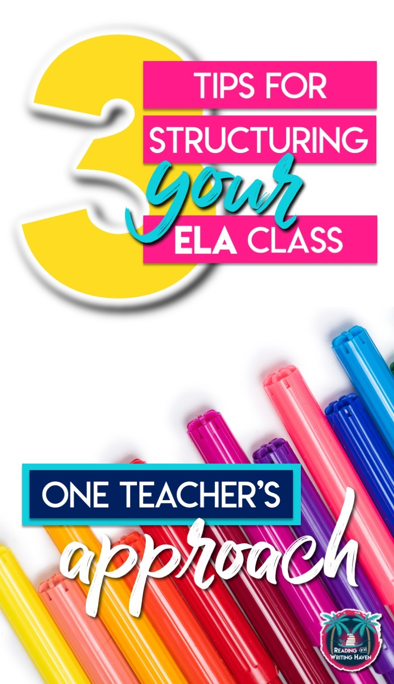 Wondering how to structure an ELA class? It can be a balancing act! Read about how to fit it all in in this blog post. #MiddleSchoolELA #HighSchoolELA #ClassStructure