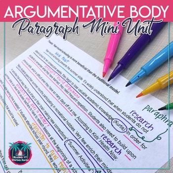 Use this body paragraph unit to help students elaborate on writing effectively #ArgumentativeWriting #ElaborateonWriting #MiddleSchoolELA #HighSchoolELA