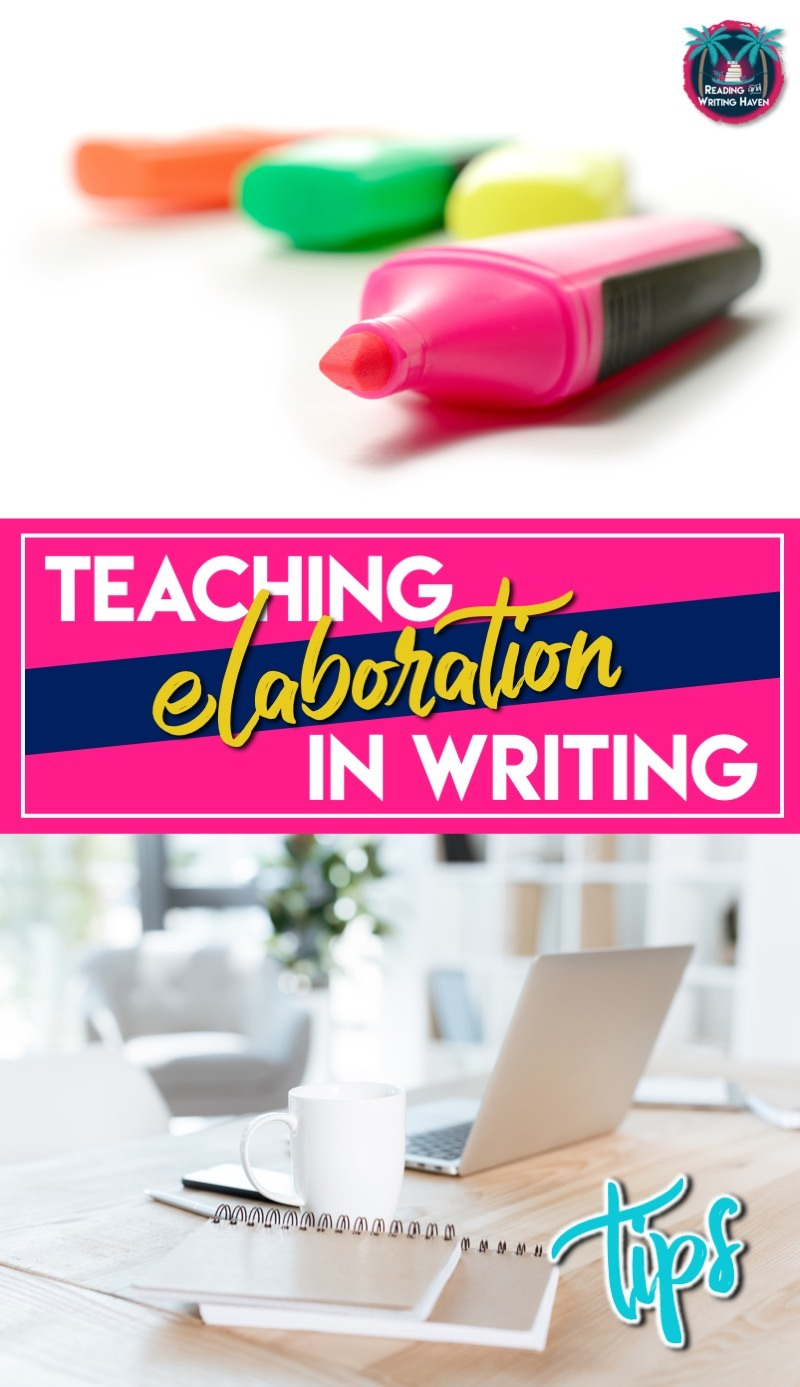 Working on elaboration in writing? Here are 8 tips for elaborating on and selecting text evidence. #MiddleSchoolELA #TextEvidence #TeachWriting #HighSchoolELA