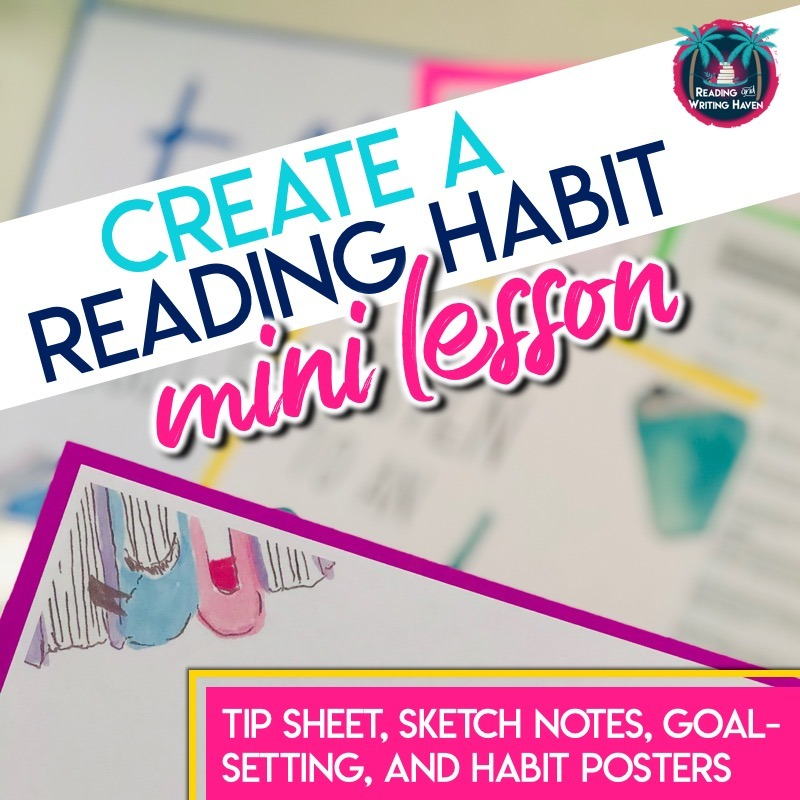 Help students to create a habit of reading and prioritize their reading lives with this mini lesson #ReadingLesson #MiddleSchoolELA #HighSchoolELA #ReadingTeacher